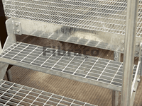 Hot dip galvanized according to norms